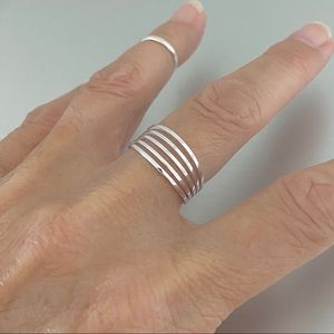 🎉TOP SELLER 🎉Sterling Silver Multiple Bands Ring